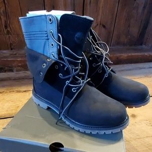 Timberland double fold canvas boots black
